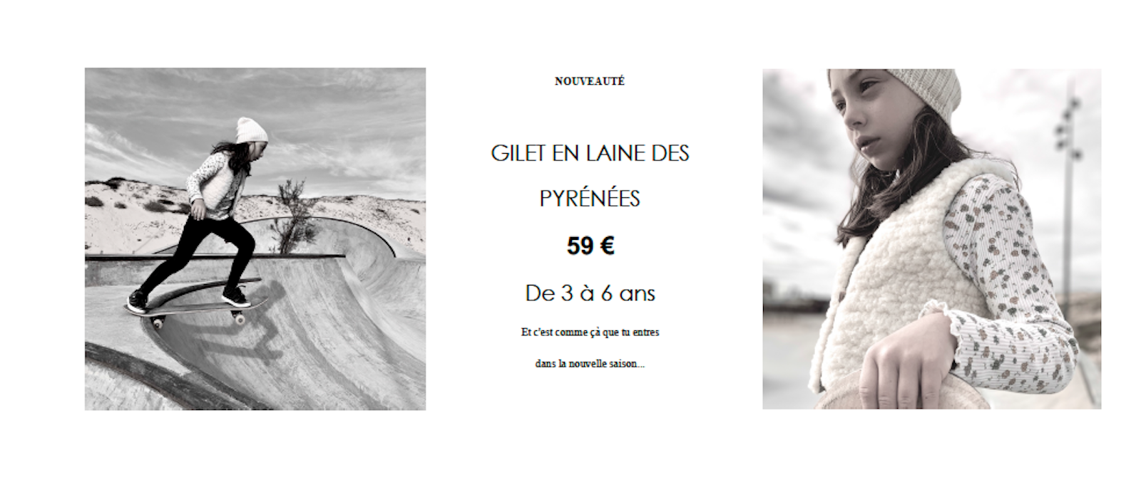 Gilet enfant en laine des Pyrénées