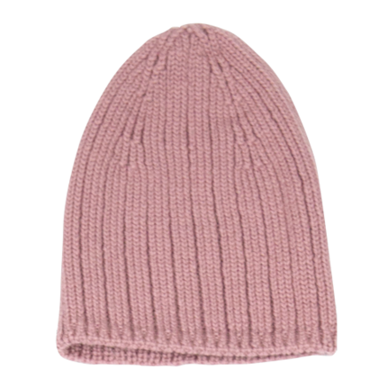 vetement de bébé-bonnet en laine merinos-rose-naissance-maternite