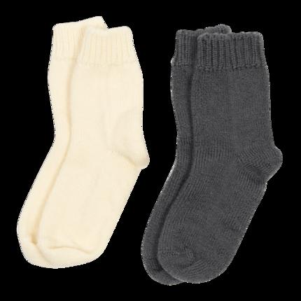 vetement de bebe-chaussettes-en laine merinos-ecru-gris-naissance-maternité.png
