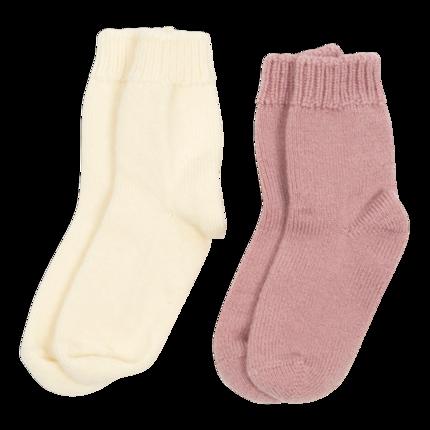 vetement de bebe-chaussettes-en laine merinos-ecru-rose-naissance-douce-maternité.png