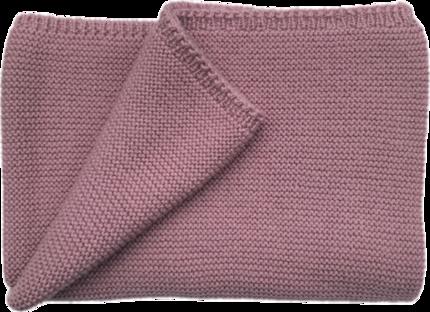 Couverture rose bébé laine mérinos