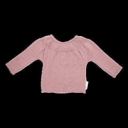 vêtement de bebe-brassiere-layette en laine mérinos rose et douce