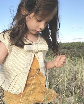 Kit à tricoter la veste à noeud