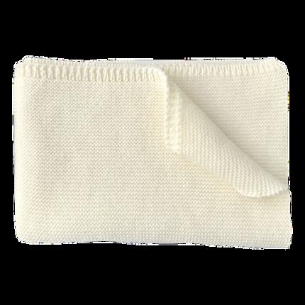 couverture de bebe-en laine merinos-naissance-ecrue-douce-chaude-naturelle