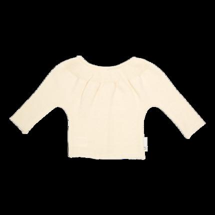vêtement de bebe-brassiere-layette en laine mérinos écrue et douce