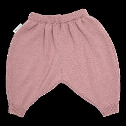 vêtement de bébé-layette-pantalon en laine merinos rose-douce-naturelle