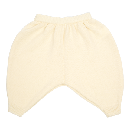 vêtement de bebe-layette-pantalon en laine mérinos-écru-douce-naturelle