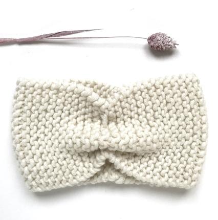Bandeau laine bébé fille