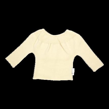 vetement de bebe-layette-brassiere en laine mérinos-ecru-naissance-naturelle-maternité