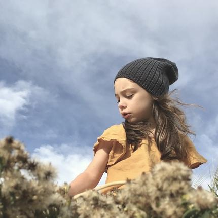 Bonnet laine merinos enfant fille