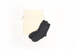 vetement de bebe-chaussettes en laine-merinos grises-naissance-maternite-chaude