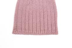 vetement de bébé-layette-bonnet en laine-merinos-rose-douce-naissance naturel