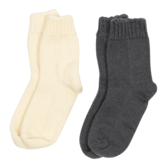 Chaussettes Duo écrues grises