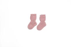 vetement-bebe-layette-chaussons-en-laine-merinos-rose-maternité-naissance