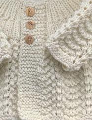 Brassière bébé laine
