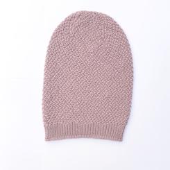 Bonnet rose laine mérinos fille