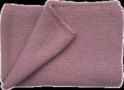 Couverture Marius en laine mérinos Vieux-Rose