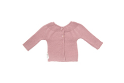 vêtement de bebe-layette-brassiere en laine mérinos-rose-douce-naturel