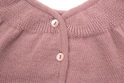 vêtement de bébé-layette-brassiere en laine merinos grise-naissance