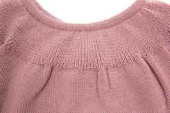 vêtement de bebe-layette-brassiere en laine merinos-rose-douce-naturelle