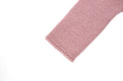 vêtement de bebe-layette-brassiere en laine merinos rose-naissance-doux