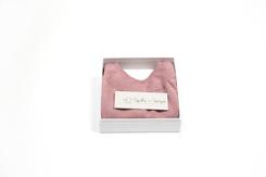 vêtement de bebe-layette-brassiere en laine mérinos-rose-cadeau de naissance