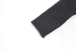 vêtement de bebe-layette-brassiere en laine merinos grise-naissance-doux