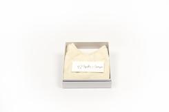 vêtement de bebe-layette-brassiere en laine mérinos-écrue-cadeau de naissance