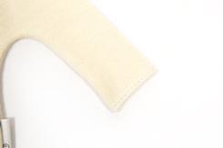 vêtement de bebe-layette-brassiere en laine merinos écrue-naissance-doux