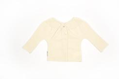vêtement de bebe-layette-brassiere en laine merinos-ecrue-naturelle