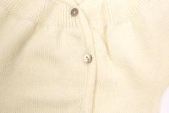 vêtement de bébé-layette-brassiere en laine merinos écrue-naissance
