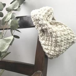 Bandeau headband bébé en laine
