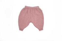 vêtement de bébé-layette-pantalon en laine mérinos rose-naissance