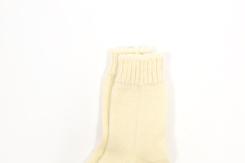 vetement de bebe-layette-chaussettes laine merinos-ecru-naturel-maternité-naissance