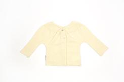 vetement de bebe-layette-brassiere en laine mérinos d\'Arles-ecru-cadeau de naissance-douce-fine-maternite
