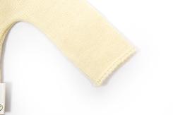 vetement de bébé-layette-brassiere en laine mérinos d\'Arles-ecru-naissance-douce-fine-chaude-cadeau de naissance