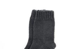 vetement de bebe-chaussettes-en laine merinos-grises-naissance-douce-maternite