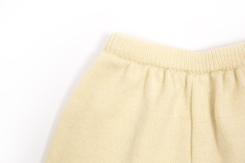 vêtement de bébé-layette-pantalon en laine mérinos d\'Arles-ecru-maternite-cadeau de naissance-chaud-naturel