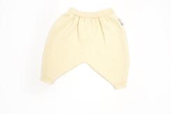 vêtement de bebe-layette-pantalon-en laine-merinos d\'Arles-ecru-chaud-naturel