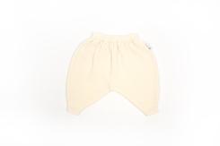 vêtement de bébé-layette-pantalon en laine mérinos-ecru-naissance