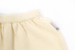 vêtement de bébé-layette-pantalon en laine mérinos-ecru-naissance-doux